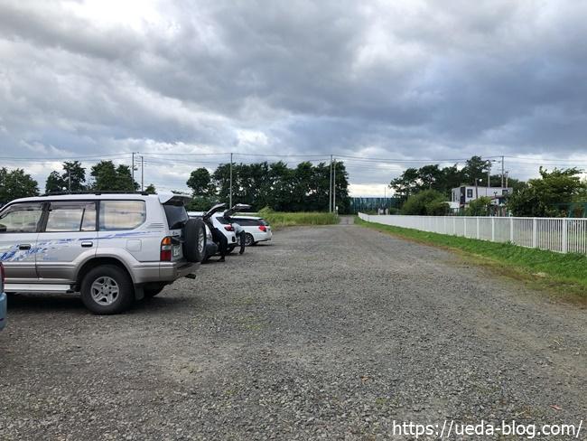 中沼リサイクル団地緑地コースの駐車場