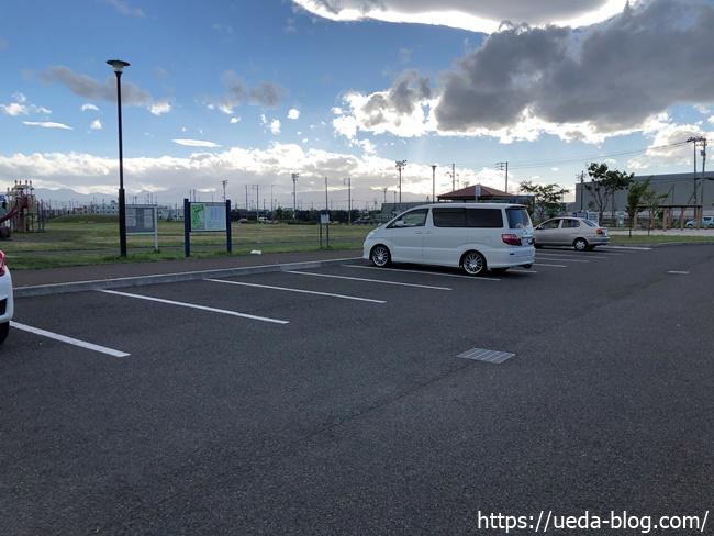 東雁来公園パークゴルフ場の駐車場
