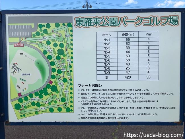東雁来公園パークゴルフ場のホール概要