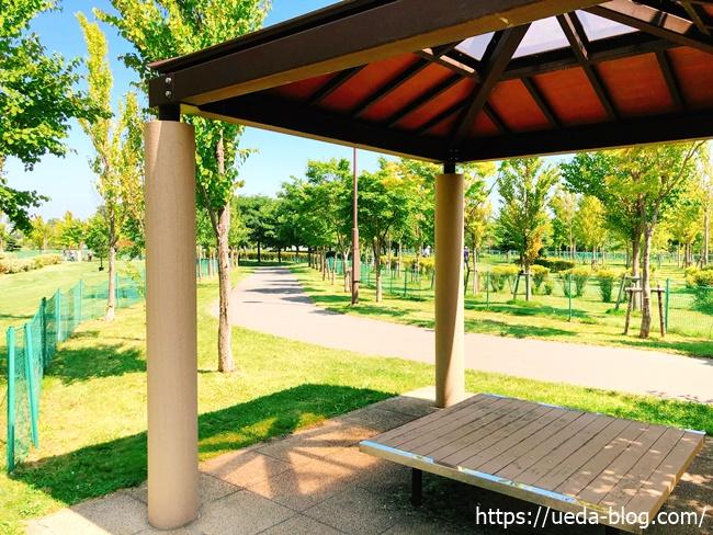 丘珠空港緑地パークゴルフ場の休憩所