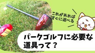 パークゴルフに必要な道具一覧【初心者はこの用具・用品を揃えよう!】