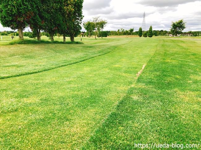 るるまっぷパークゴルフ場はコースに起伏が多い