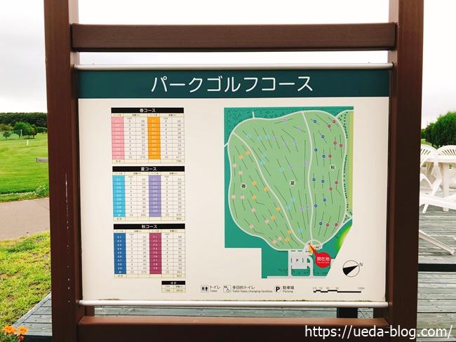 るるまっぷパークゴルフ場の全体図