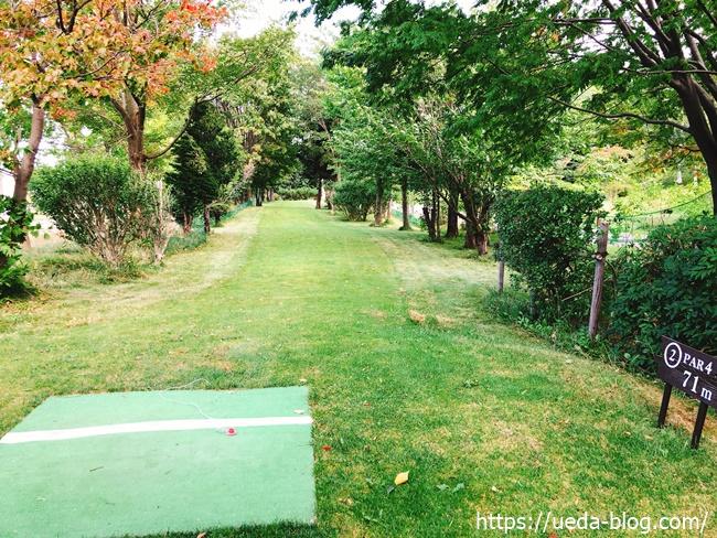 川下公園パークゴルフ場は自然が多い