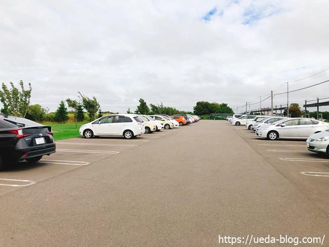 輪厚国際パークゴルフ場の駐車場