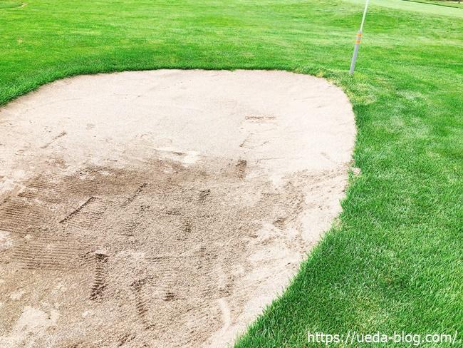 輪厚国際パークゴルフ場のバンカー