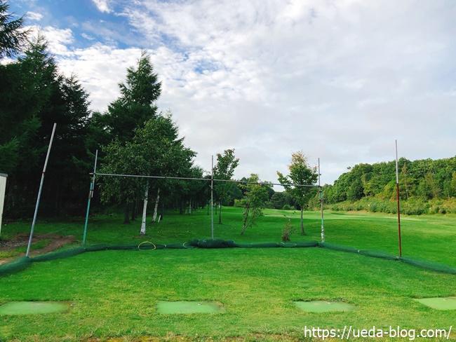 パークゴルフの打ちっぱなし練習場