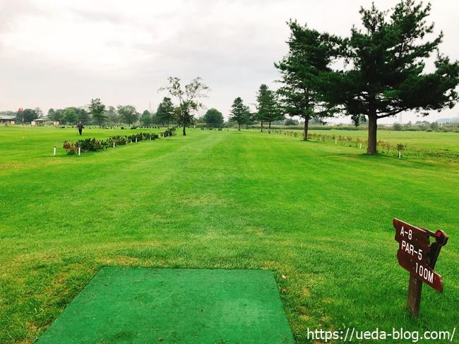 はらっぱ36パークゴルフ場の芝生はきれいに整っている