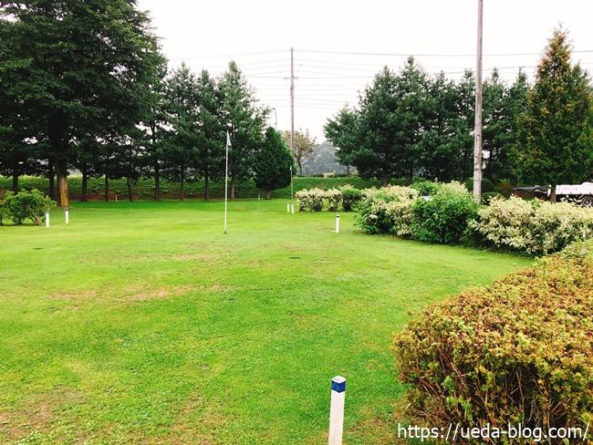 自然が多いパークゴルフ場