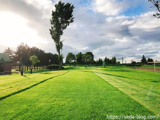 長沼町総合公園パークゴルフ場のフェアウェイ