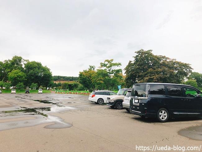花夢里パークゴルフ場の駐車場