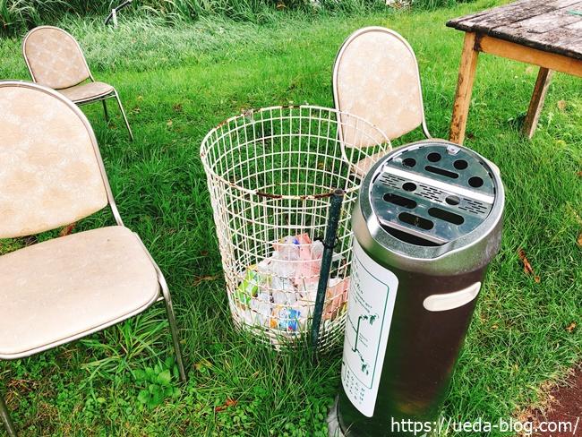 花夢里パークゴルフ場は灰皿が多い