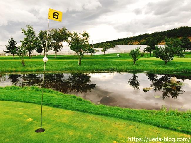 花夢里パークゴルフ場は池やウォーターハザードが面白い
