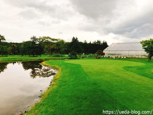 花夢里パークゴルフ場は池や水辺がある気持ちの良いコース