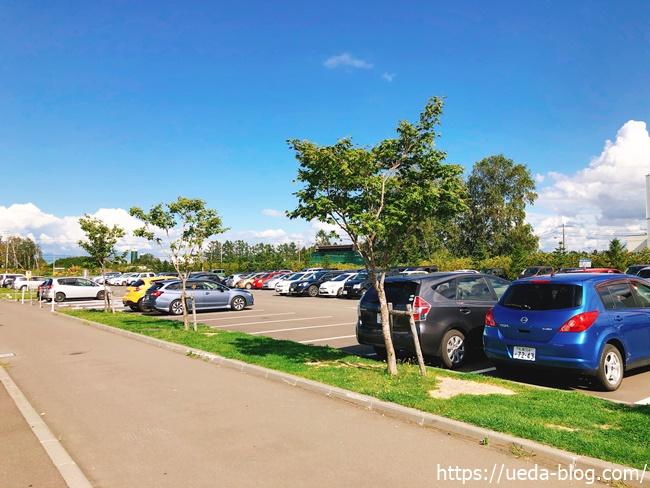 福移の杜パークゴルフ場の駐車場