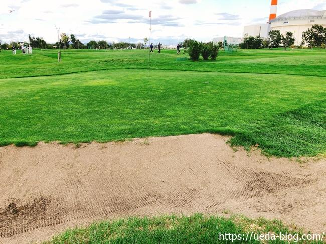 福移の杜パークゴルフ場は深めのバンカーが多い