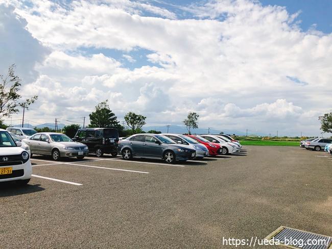 えべつ角山パークランドの駐車場