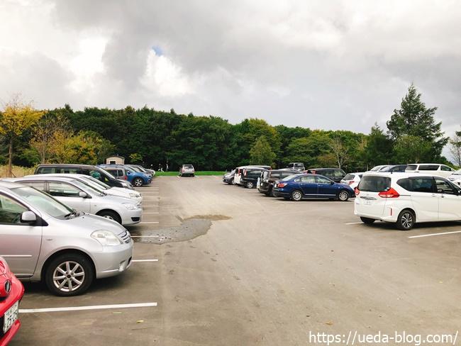 エルムパーク西の里の駐車場