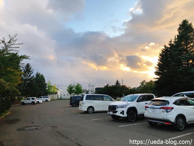 王子ゴルフガーデンパークゴルフ場の駐車場