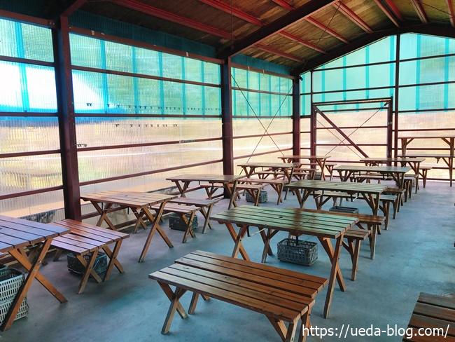 八剣山パークゴルフ場の食堂