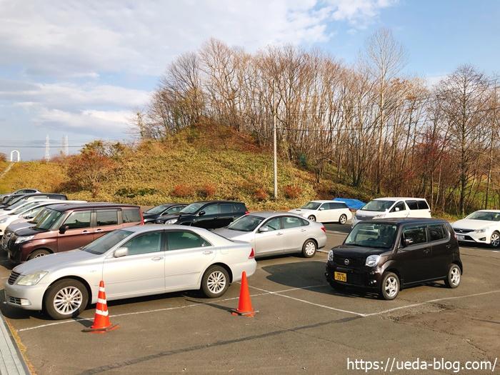 糸井の森パークゴルフ場の駐車場