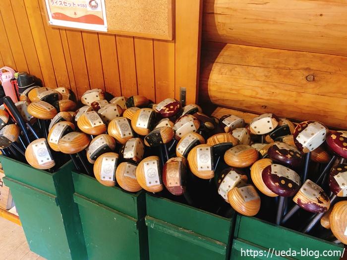 糸井の森パークゴルフ場にはレンタルクラブも完備