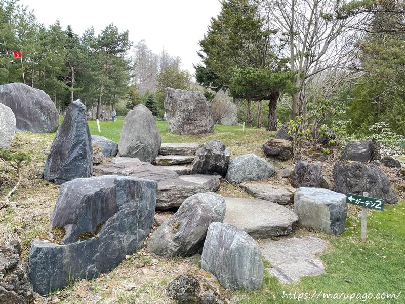 エルクの森パークゴルフクラブ 日本庭園の雰囲気