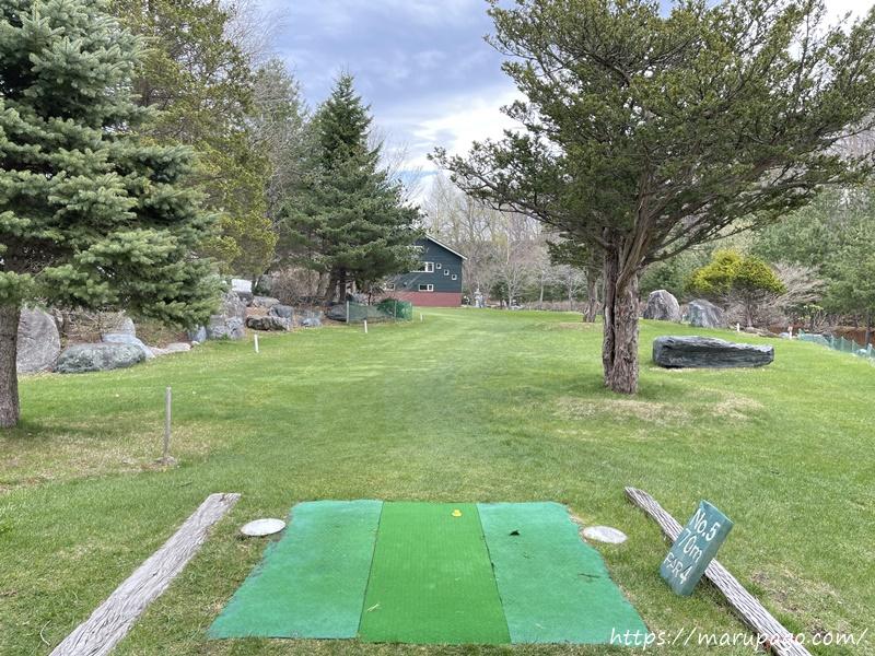 エルクの森パークゴルフクラブ ガーデンコース5番ホール