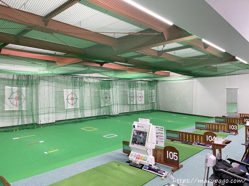 山の手ゴルフセンターパークゴルフ打ちっぱなし練習場 中の様子