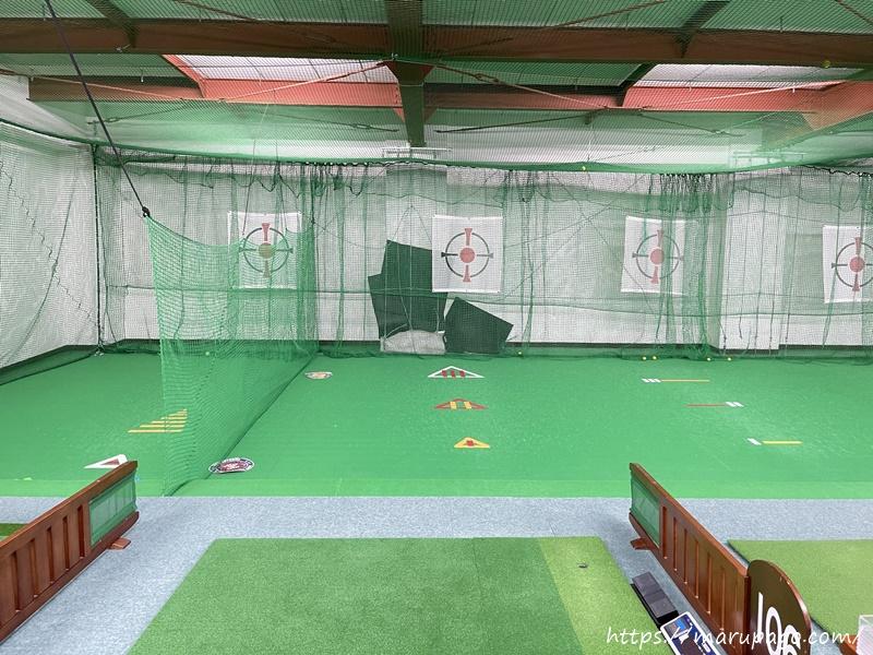 山の手ゴルフセンターパークゴルフ打ちっぱなし練習場 中の様子2