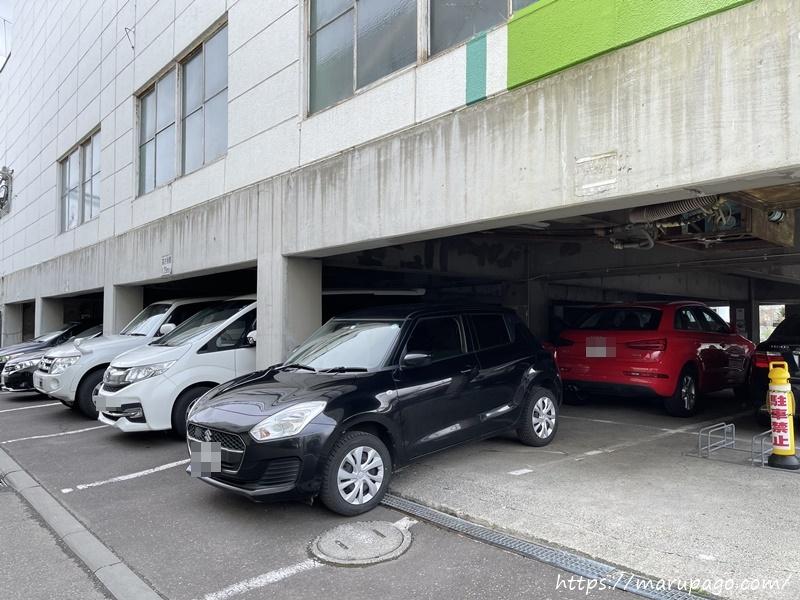 山の手ゴルフセンター 駐車場の様子