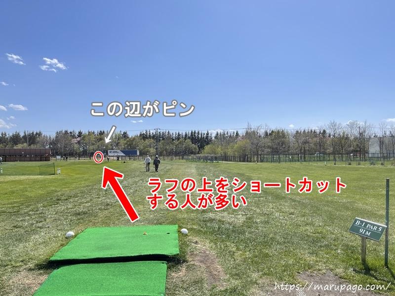 茨戸川緑地パークゴルフ場 Bコース1ホール目