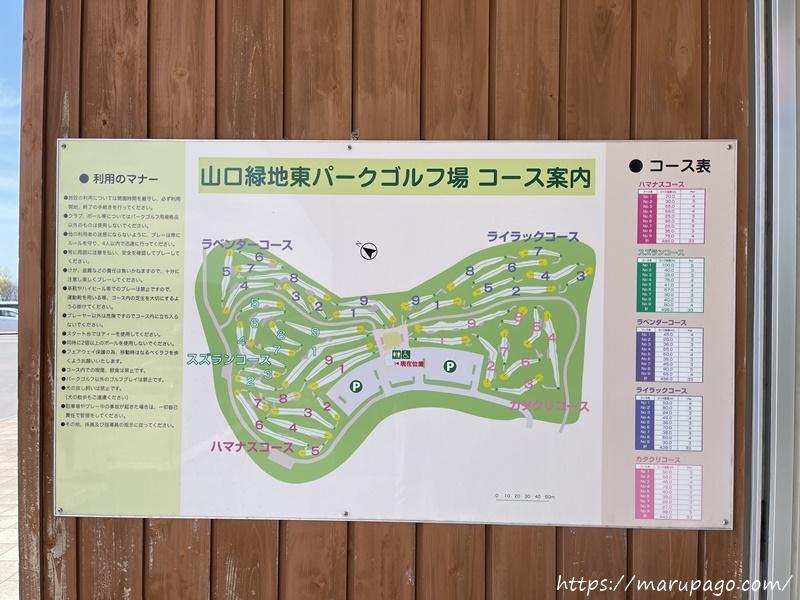 山口緑地パークゴルフ場東コース 案内