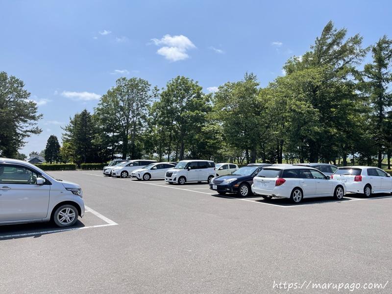 恵庭中央パークゴルフ場 駐車場の様子