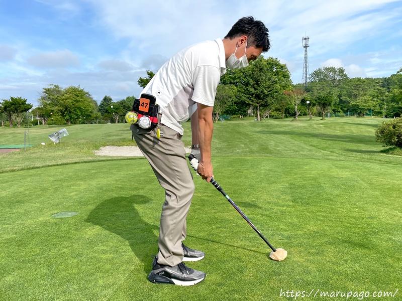 パークゴルフ アップライトなパッティングの構え方