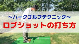 パークゴルフ|ロブショットの打ち方
