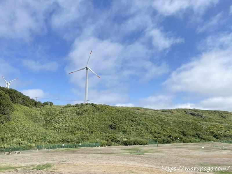 シーサイドみなくるパークゴルフ場 風力発電所